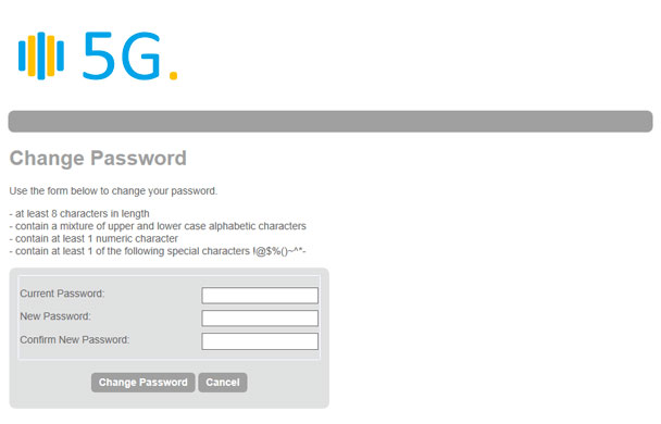 Change you password form demo
